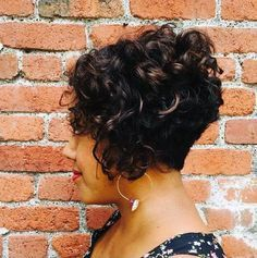 Short Curly Bob Hairstyles Delectable Super Short Curly Bob Side Viewa Bit Short But I Like How The Back