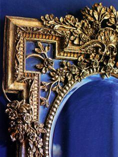 beautiful brass mirror!