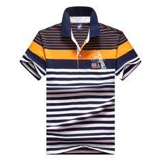 Homens clássico polo homme mens marcas camisa polo da listra tace   shark  shark logotipo polo camisas de manga curta camisa masculina polos Loja  Online 2c6f4768dbc50