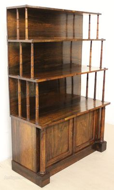 William IV Rosewood Open Waterfall Bookcase - Antiques Atlas