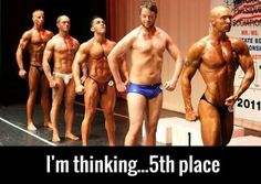 humor, funny, bodybuilding, exercise, getting fit, one of these things is not like the other, everyone's a winner, winning, pale skin, body, muscle mass, compare and despair, self confidence, self esteem, inflated, over, under, developed