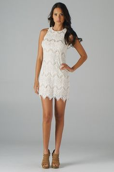 Lavishville - Zippered Back Lace Dress (Cream), $43.50 (http://www.lavishville.com/zippered-back-lace-dress-cream/)