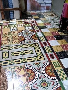 french cement floor tiles | Books About Cement Encaustic Tiles for information and inspiration: