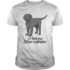 Personalized Name I love my Silver Labrador Shirts & Tees