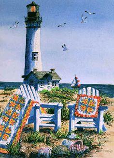 """De Diane Phalen """"summer at the shore"""""""