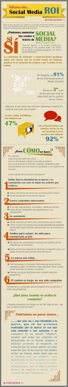 #TopInfografía. Consejos para aumentar las ventas a través de Social Media. #Infografía. Español.