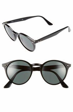 26e770193cab0 Main Image - Ray-Ban Highstreet 51mm Round Sunglasses Ray Ban Round  Sunglasses