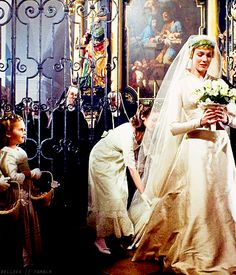 "Maria prepares to process down the aisle in the  St. Michael Mondsee Church to the music, ""How Do You Solve A Problem Like Maria?"".  It is a beautiful scene that culminates with Maria meeting Captain Georg Von Trapp at the ornate altar so that they can marry."