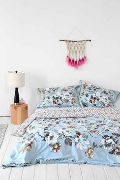 plum & bow scattered flowers duvet cover | awesome stuff, spaces