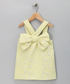 Take a look at this Yellow Shimmer Bow Top - Infant, Toddler & Girls by Halabaloo on #zulily today!