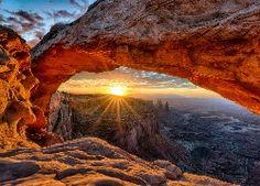 Stany, Zjednoczone, Park, Narodowy, Canyonlands, Kanion, Świt
