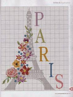Lú cantinho do bordado e da cozinha: PONTO CRUZ (PARIS)