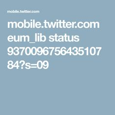 mobile.twitter.com eum_lib status 937009675643510784?s=09