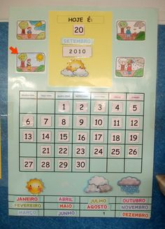 quadros do tempo para jardim de infancia - Pesquisa do Google Classroom Organization, Classroom Decor, Calendar Board, Reggio Emilia, Kids Education, Fun Learning, Legos, Diy For Kids, Back To School