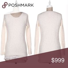 Coming soon! Soft Brushed Knit Sweater Very stretchy and soft. Long sleeve pullover sweater. 95% acrylic 5% spandex. Hand wash cold. Air dry. One size fits most Sweaters Crew & Scoop Necks