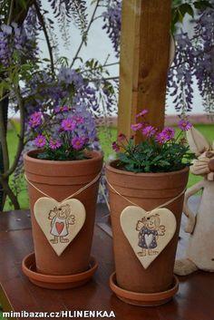 Srdíčko s andělkou Plant Markers, Clay Pots, Feng Shui, Advent, Biscuit, Planter Pots, Flowers, Plants, Decorative Vases