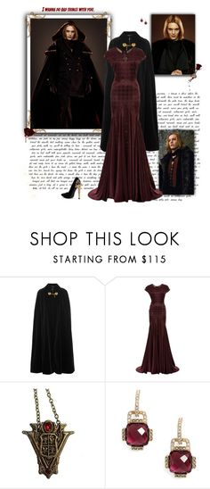 """""""Caius Volturi"""" by greerflower ❤ liked on Polyvore featuring Yves Saint Laurent, Zac Posen and Judith Jack"""