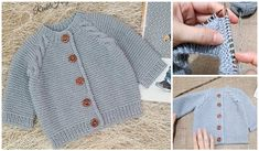 Baby Cardigan, Baby Knitting Patterns, Nike Tech, Arm Hair, Diy Bracelets Easy, Moda Emo, Sweater Design, Easy Knitting, Baby Sweaters