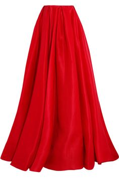 Red silk-gazar Concealed hook fastening at back 100% silk; lining: 100% polyester Dry clean Designer color: Poppy