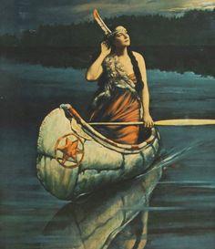 Image result for vintage indian maiden prints