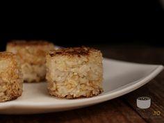 Bulete de orez prajite umplute cu ton