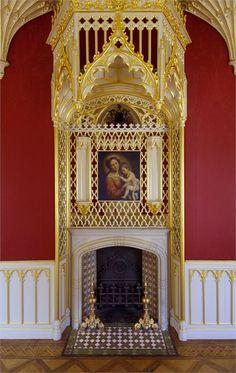 LOC 2659 Fireplace as a feature English Architecture, Revival Architecture, Georgian Architecture, Strawberry Hill House, English Interior, London Films, London Landmarks, Beautiful Buildings, Bellisima