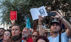 Protesters mark the anniversary of the death of Paolo Borsellino, an Italian magistrate who was killed by a mafia car bomb in 1992.