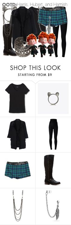 """OOTD: Harris, Hubert, and Hamish"" by fabulousgurl ❤ liked on Polyvore featuring Mossimo Supply Co., The Rogue + The Wolf, French Connection, Dolce&Gabbana, Aéropostale, NAKAMOL, Bling Jewelry, Forever 21, disneybound and brave"