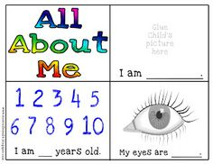 preSchool floor puzzle all about me  | yourself coloring page all about me mini book part 1