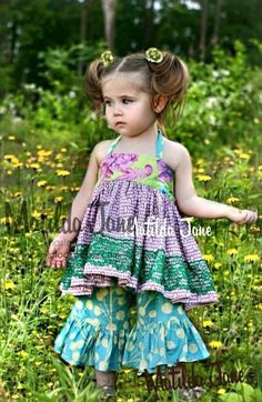 Size 4 Thistle Ruffles and Violet Ellie Top Matilda Jane, Art Fair, Kids Girls, Ruffles, Kids Outfits, Flower Girl Dresses, Summer Dresses, Sewing, Wedding Dresses