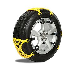 Vulcan-X Security Anti Snow Chains For Passenger Cars Pickups and SUVs - Set of 6. For product info go to:  https://www.caraccessoriesonlinemarket.com/vulcan-x-security-anti-snow-chains-for-passenger-cars-pickups-and-suvs-set-of-6/