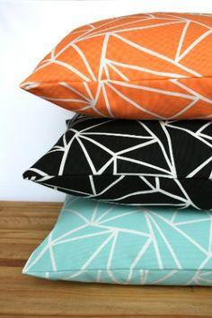 Geometric pattern pillows