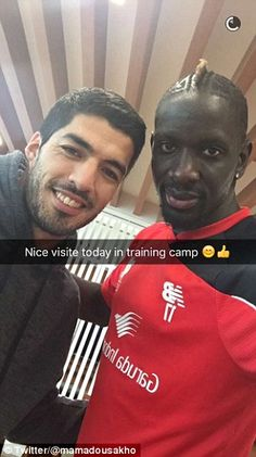 Barcelona striker Suarez (left) returned to his former club Liverpool to be reunited with Mamadou Sakho