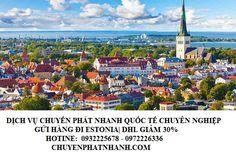 Gửi hàng đi Estonia | Dịch vụ DHL giảm 30% đi bao lâu?