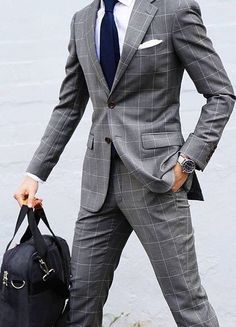 Suit style for men | Stylish Men in Suits | Grey Suits for men | Please SAVE the Pin if you like it lovely peeps ;) #suitsmenstyle