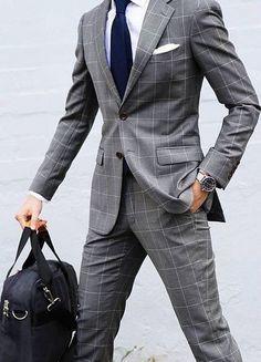 Suit style for men   Stylish Men in Suits   Grey Suits for men   Please 47663df887e