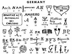 A wonderful site for German pottery marks!  http://www.oldandsold.com/pottery/germany1.shtml