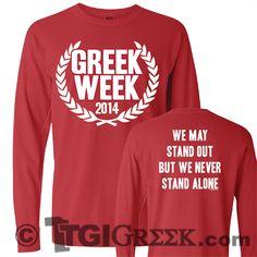 TGI Greek - Greek t-shirt - Greek Week - long sleeve t - comfort colors Kappa Kappa Gamma, Alpha Sigma Alpha, Delta Zeta, Sorority Outfits, Sorority Life, Sorority Shirts, Greek Week, Greek Life, Pi Beta Phi