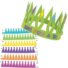 Kids' Paper Craft Kits - Bright Design Your Own Foam Crowns Set of 12 includes 562 selfadhesive foam shapes and letters * Click on the image for additional details.