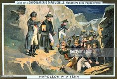 Napoleon at the Battle of Jena 14 October 1806 The Battle of Jena in Germany began with the chance evening meeting of Marshal Lannes' corps with a...