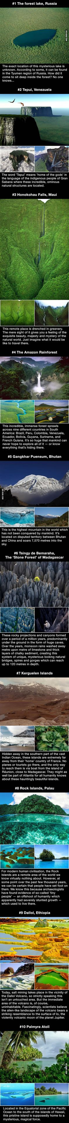 Ten incredible and mysterious places around the world untouched by mankind (Cool Photography Nature) Places Around The World, Oh The Places You'll Go, Places To Travel, Travel Destinations, Places To Visit, Around The Worlds, Foto Top, Mysterious Places, To Infinity And Beyond