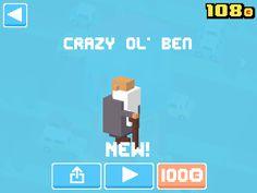 Just unlocked Crazy Ol' Ben! #crossyroad