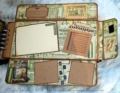 One page of a new mini album I made using @Graphic 45®'s 'Olde Curiosity Shoppe'…