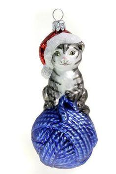 Christbaumschmuck Glas Katze Hamburger Weihnachtskontor - GBR http://www.amazon.de/dp/B006Y6Y730/ref=cm_sw_r_pi_dp_xfQOub1DE91XH