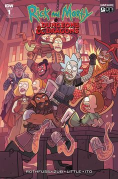 Rick and Morty vs Dungeons and Dragons Rick And Morty Comic, Patrick Rothfuss, School Games, Dungeons And Dragons, Artsy, Comic Books, Comics, Wallpaper, Anime