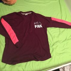 Pink Varsity Crew CUTE SWEATER ✨ Would be nice for a Christmas gift or even just for yourself ! *********WOULD FIT SOMEONE THAT WEARS A SIZE MEDIUM OR LARGE************.   I accept OBO!!!‼️‼️‼️‼️ PINK Victoria's Secret Sweaters