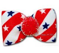 Dog Bow Barrette - Stars & Stripes ~ http://puprwear.com/