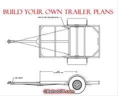 4 x 8 TRAILER Auto Van wie DIY Build Pläne  by RetroDIYandPlants