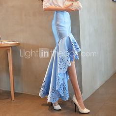 DABUWAWA Women's Sexy/Bodycon/Party Cut-out High-low Fishtail Skirts (Polyester) 2016 - $22.99