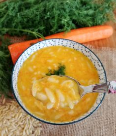 Havuçlu, terbiyeli şehriye çorbası Iftar, Baby Food Recipes, Cantaloupe, Pasta, Soup, Fruit, Ethnic Recipes, Recipes For Baby Food, Soups